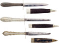 Edged Weapons:Daggers, A Group Of Three Fine Cutlery Handle Civil War Period Dirks.... (Total: 3 Items)