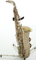 Musical Instruments:Horns & Wind Instruments, Circa 1934 Conn Naked Lady Silver Alto Saxophone, #M257730A....