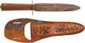 Edged Weapons:Knives, Large Mid 19th Century American Knife...