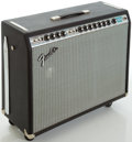 Musical Instruments:Amplifiers, PA, & Effects, Late 1970's Fender Vibrosonic Reverb Silverface Guitar Amplifier,#A75076....