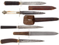 Edged Weapons:Knives, Group of 5 Vintage Knives... (Total: 5 Items)