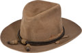 "Militaria:Uniforms, U.S. Model 1889 ""Snowflake"" Campaign Hat With Officers' Hat Cord...."