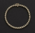 "Estate Jewelry:Bracelets, Estate Diamond & Gold ""S"" Tennis Bracelet. ..."