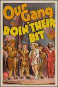 "Movie Posters:Comedy, Doin' Their Bit (MGM, 1942). One Sheet (27"" X 41""). Our GangComedy.. ..."