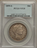 Barber Half Dollars: , 1899-S 50C VF35 PCGS. PCGS Population (7/137). NGC Census: (2/77).Mintage: 1,686,411. Numismedia Wsl. Price for problem fr...