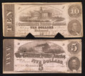 Confederate Notes:1863 Issues, T59 and T60 Cancelled Notes.. ... (Total: 2 notes)