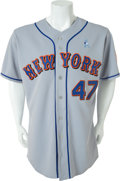 Baseball Collectibles:Uniforms, 2007 Tom Glavine Game Worn New York Mets Jersey....