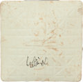 Baseball Collectibles:Others, 2006 Ichiro Suzuki Signed Base From 200th Career Stolen Base. ...