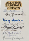 Autographs:Others, Circa 1980 Negro League Stars Signed Page....