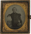 Photography:Ambrotypes, Pre War Sixth Plate Ambrotype of US Militia Soldier. ...