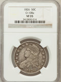 Bust Half Dollars: , 1826 50C VF35 NGC. O-108a. NGC Census: (26/1290). PCGS Population(78/1484). Mintage: 4,000,000. Numismedia Wsl. Price for ...