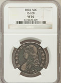 Bust Half Dollars: , 1824 50C VF30 NGC. O-108. NGC Census: (27/781). PCGS Population(55/818). Mintage: 3,504,954. Numismedia Wsl. Price for pro...
