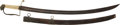 Edged Weapons:Swords, American Eaglehead Officer's Saber and Scabbard C. 1825...