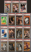 Basketball Cards:Lots, Basketball Legends Signed Cards Lot of 15 - PSA Slabbed....