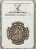 Bust Half Dollars: , 1810 50C Fine 12 NGC. O-108. NGC Census: (12/566). PCGS Population(12/644). Mintage: 1,276,276. Numismedia Wsl. Price for ...