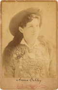 Photography:Cabinet Photos, Annie Oakley: Cabinet Card Photo....