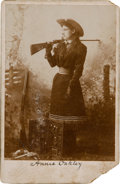 Photography:Cabinet Photos, Annie Oakley Cabinet Card Photo: A Rare Image....