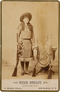 Photography:Cabinet Photos, Annie Oakley: A Very Fine Cabinet Card Photo. ...