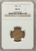 Indian Cents: , 1861 1C MS62 NGC. NGC Census: (168/1172). PCGS Population (92/834).Mintage: 10,100,000. Numismedia Wsl. Price for problem ...
