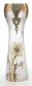 Art Glass:Other , A FRENCH GLASS VASE ATTRIBUTED TO MONT JOYE. Mont Joye, Paris,France, circa 1900. 13-1/2 inches high (34.3 cm). ...