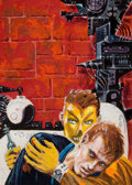 Pulp, Pulp-like, Digests, and Paperback Art, EDMUND (EMSH) EMSHWILLER (American, 1925-1990). Preliminarypaperback cover. Gouache and tempera on board. 6.25 x 4.5 in...