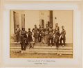 Photography:CDVs, Great Civil War Albumen Portrait of the Field and Staff of the 8th New York Militia at Arlington House, Virginia....