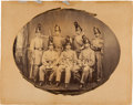 Photography:CDVs, Great C. 1860 Oval Albumen Portrait Of The Officer's And NCOs Of A New York State Militia Unit. ...