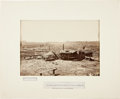 """Photography:CDVs, Magnificent Civil War Albumen Image, """"Confederate Fortifications in front of Atlanta.""""..."""