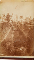 "Photography:CDVs, 4 1/4"" X 7 1/2"" Unmounted Albumen View Of Andersonville Prison By A. J. Biddle...."
