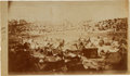 """Photography:CDVs, Unmounted 4 1/4"""" X 7 3/8"""" Civil War Period Albumen View By A. J. Biddle Of The Interior Of Andersonville Prison...."""