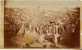 """Photography:CDVs, 4 1/2"""" X 7 3/8"""" Unmounted Albumen View Of Andersonville Prison By A. J. Biddle...."""