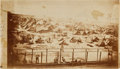 """Photography:CDVs, 4 1/4"""" X 7 1/2"""" Unmounted Albumen View Of Andersonville Prison By A. J. Biddle...."""