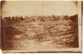 """Photography:CDVs, 4 3/4"""" X 7 1/4"""" Unmounted Albumen View Of Andersonville Prison By A. J. Biddle...."""
