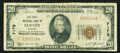 National Bank Notes:Kansas, Clifton, KS - $20 1929 Ty. 1 The First NB Ch. # 7178. ...