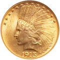 Indian Eagles, 1913 $10 MS65 NGC. CAC....