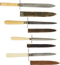 Edged Weapons:Daggers, Group Of Four English Dirks With Scabbards... (Total: 4 Items)
