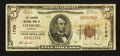 National Bank Notes:Virginia, Leesburg, VA - $5 1929 Ty. 1 The Loudoun NB Ch. # 1738. ...