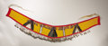 American Indian Art:Beadwork, A PLATEAU BEADED CLOTH MARTINGALE. c. 1915...