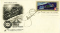 "Autographs:Authors, Aleskei Leonov Signed Apollo- Soyuz FDC 6.5"" x 3.75"". Picturing the Apollo and Soyuz crafts docking in space, the cosmonaut'... (Total: 1 Item)"