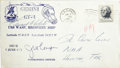 """Autographs:Celebrities, Gemini 4 - Recovery Ship Cover Signed by Command Pilot """"James A.McDivitt"""" and Pilot """"Edward H White II"""". Postmarked...(Total: 1 Item)"""