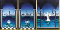 Fine Art - Painting, American:Other , Christine Dhanani (American, 20th century). . Transformation ofa Swan. Undated. Oil on canvas - triptych. Signed lo...