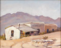 Texas:Early Texas Art - Regionalists, BERLA EMEREE (1899-1948). Untitled Adobe and Shack. Oil on canvas.16 x 20 inches (40.6 x 50.8 cm). Signed lower left. ...