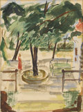 Texas:Early Texas Art - Impressionists, DONALD VOGEL (1917-2004). Zoo Scene, 1945. Watercolor onpaper. 15 x 11 inches (38.1 x 27.9 cm). Unsigned, Valley House ...