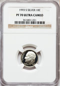 Proof Roosevelt Dimes: , 1993-S 10C Silver PR70 Ultra Cameo NGC. NGC Census: (109). PCGSPopulation (130). Numismedia Wsl. Price for problem free N...