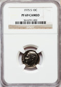 Proof Roosevelt Dimes: , 1975-S 10C PR69 Cameo NGC. NGC Census: (48/0). PCGS Population(33/2). Numismedia Wsl. Price for problem free NGC/PCGS coi...
