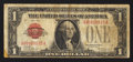 Small Size:Legal Tender Notes, Low Serial Number A00000535A Fr. 1500 $1 1928 Legal Tender Note. Fine.. ...