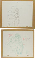 animation art:Production Drawing, The New Adventures of Flash Gordon Production DrawingAnimation Art Group (Filmation, 1979).... (Total: 2 Original Art)