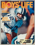 "Football Collectibles:Photos, Roger Staubach Signed ""Boys' Life"" Magazine Cover...."