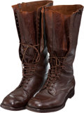 Militaria:Uniforms, U.S. Pre-WWII High Top Army Boots.... (Total: 2 Items)