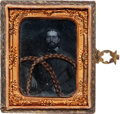 Photography:Ambrotypes, Interesting Ninth Plate Ambrotype Portrait of Federal Civil War Soldier....